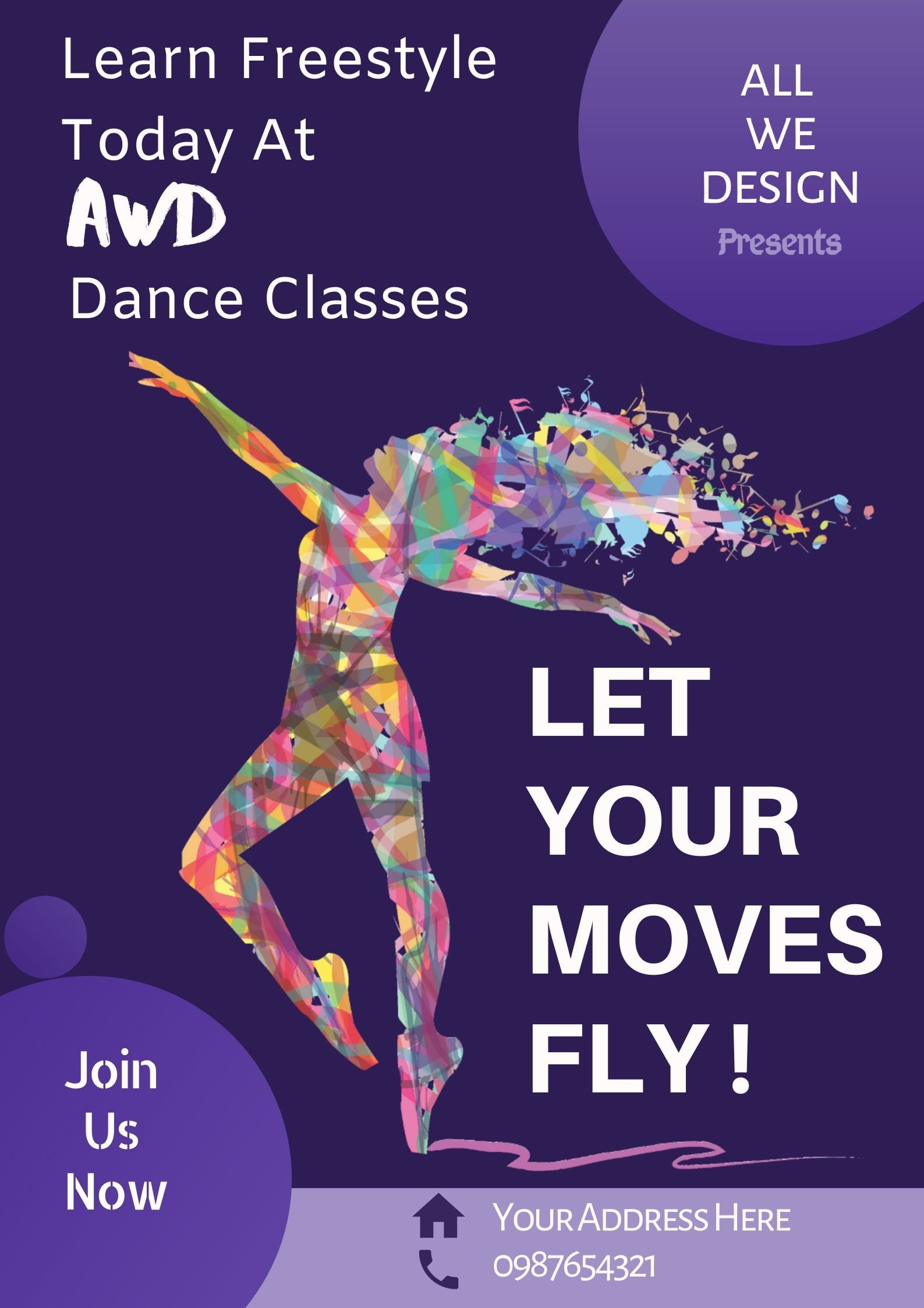 Free Dance style poster design