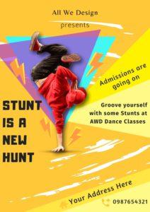 Dance poster design