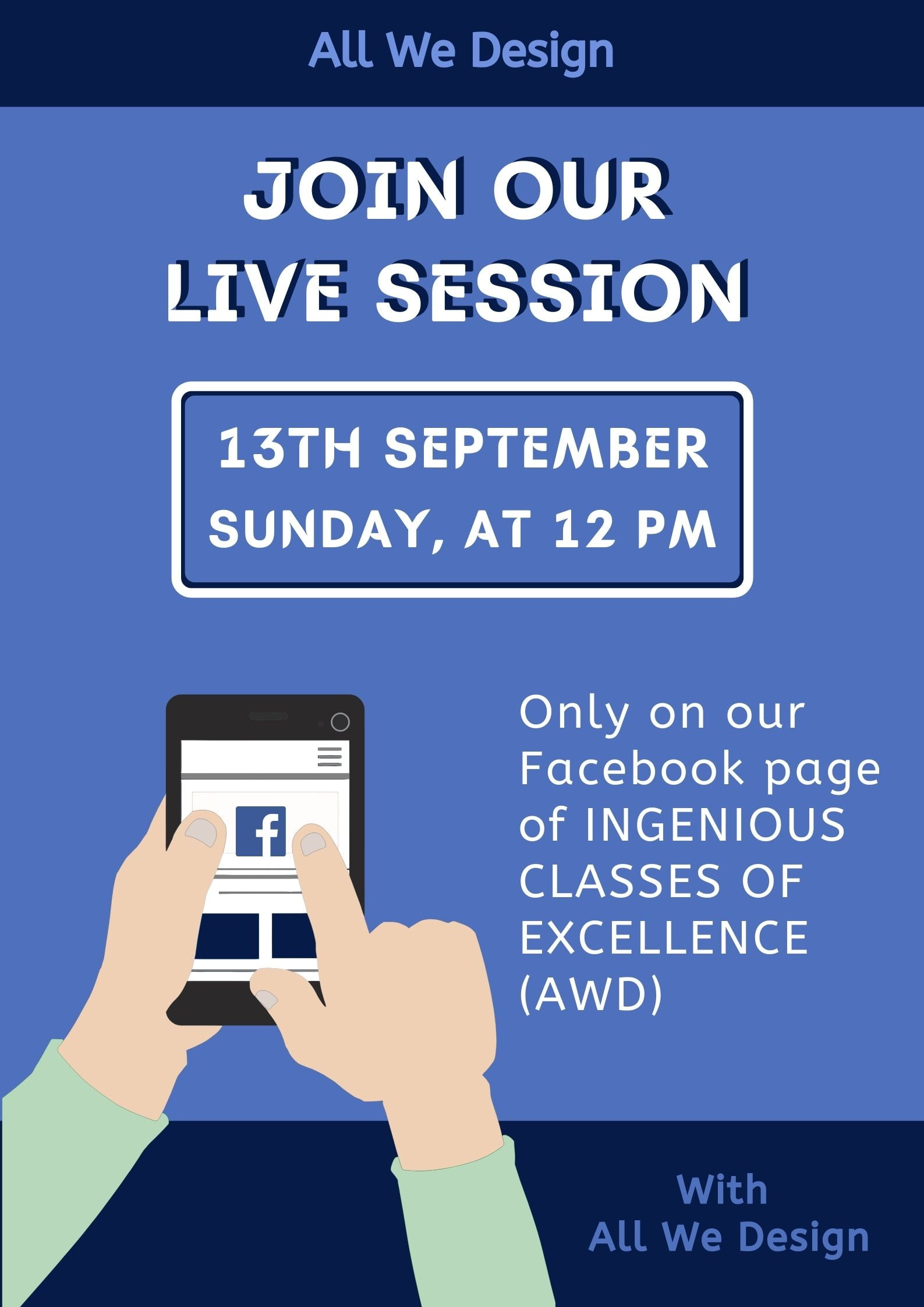 Live Session Notice Poster