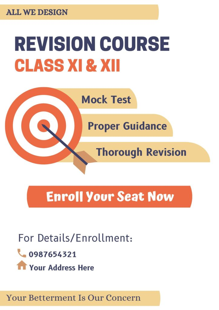 Revision Course poster
