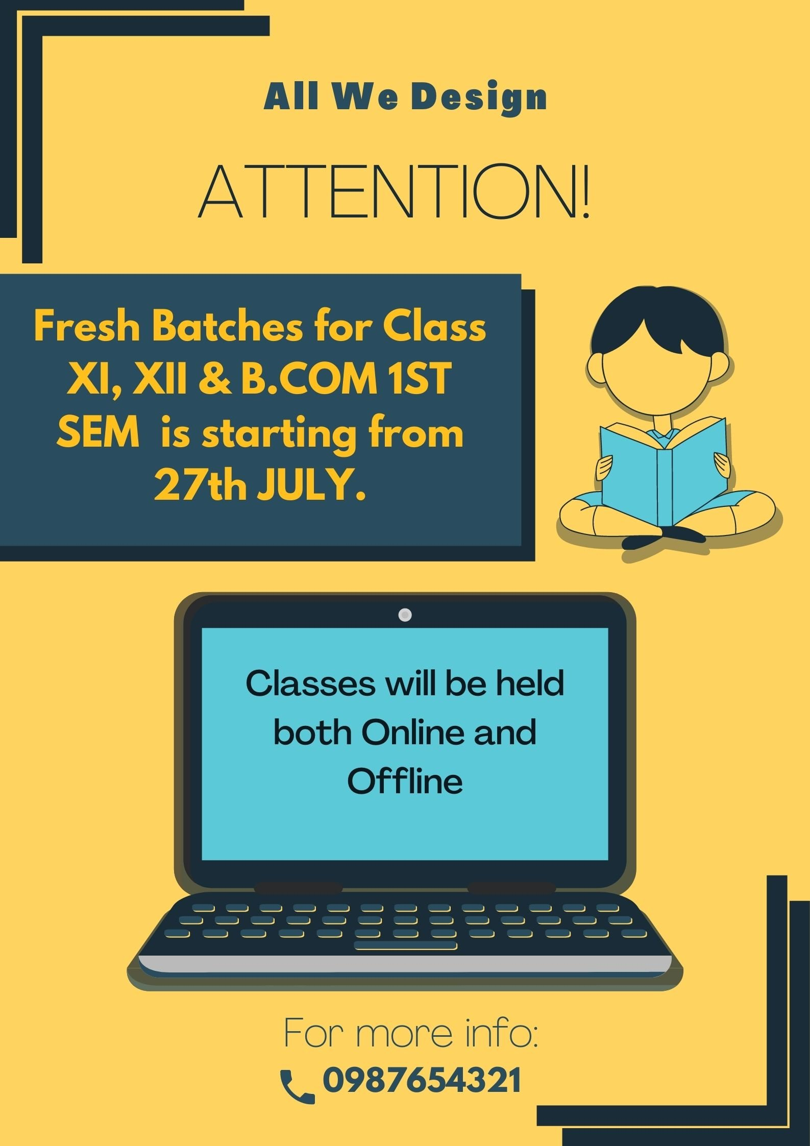 Online Class Poster