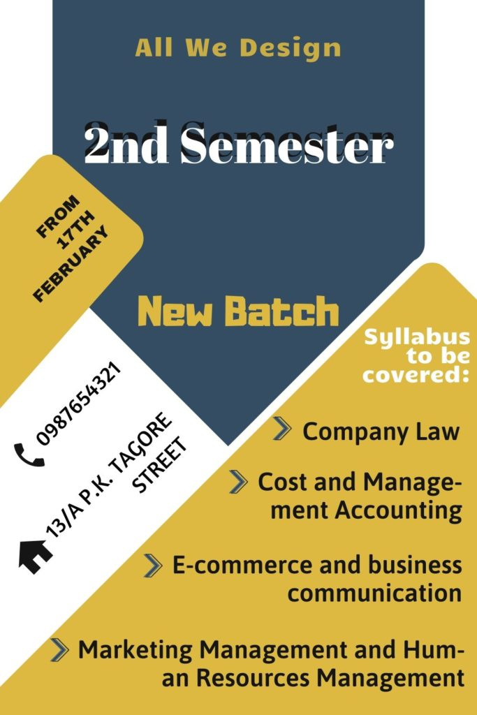 New Batch Notice Poster
