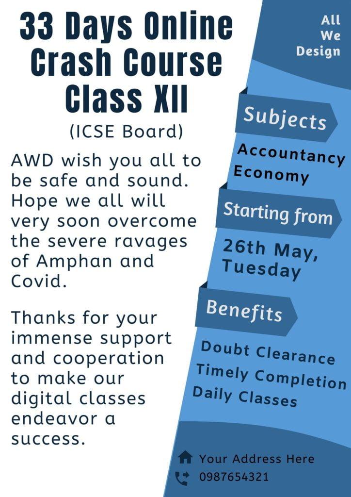 Online Crash Course Poster