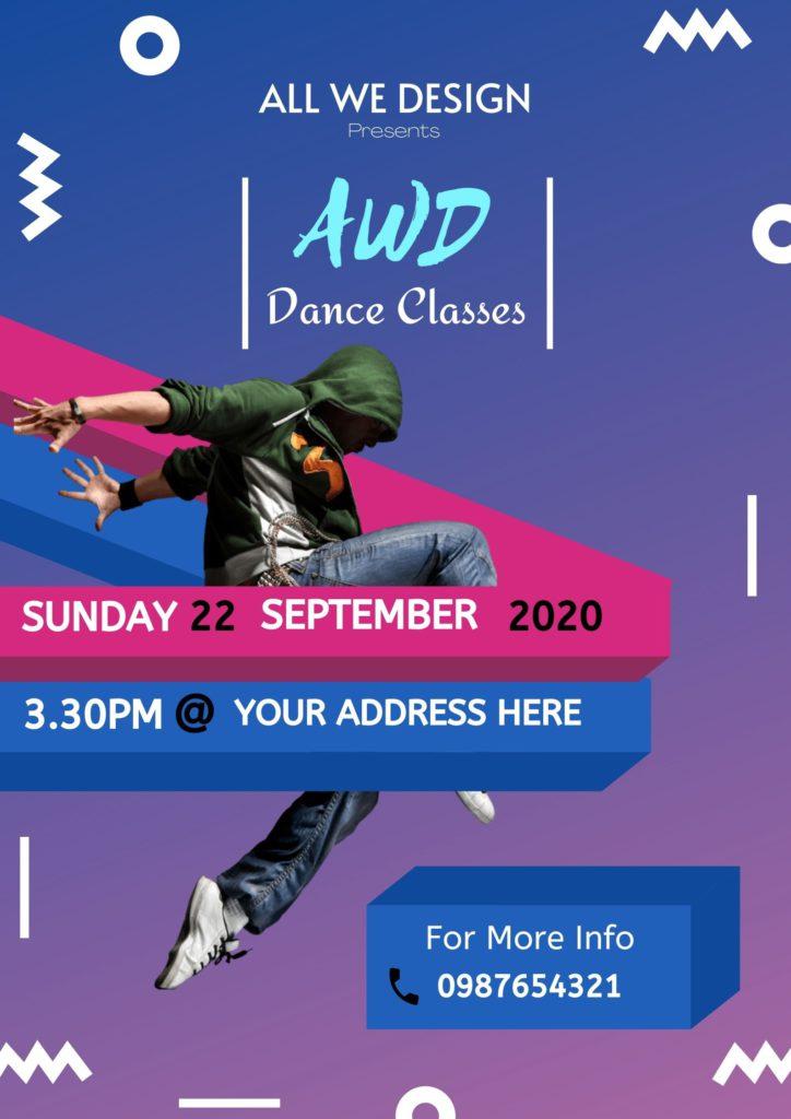 Dance Classes Poster